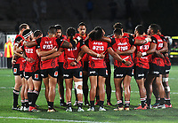 Team huddle.<br /> NRL Premiership rugby league. Vodafone Warriors v St George Illawarra. Mt Smart Stadium, Auckland, New Zealand. Friday 20 April 2018. &copy; Copyright photo: Andrew Cornaga / www.Photosport.nz