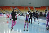 SPEEDSKATING: SOCHI: Adler Arena, 19-03-2013, Training, Gerard van Velde (trainer/coach Team Beslist.nl), Mark Tuitert (NED), © Martin de Jong