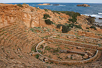 Apollonia, Susa, Libya -- Theater, Mediterranean in Background