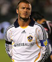 Los Angeles Galaxy midfielder (23) David Beckham during introductions prior to the start of the SuperLiga finals between the Los Angeles Galaxy of MLS and CF Pachuca of FMF at the Home Depot Center, Carson, CA, on August 29, 2007. Pachuca wins 4-3 on penalty kicks after the game finished in a 1-1 tie.