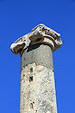 Column top ruin in Ephesus Turkey