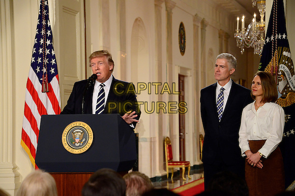 United States President Donald J. Trump announcesNeil Gorsich as his nominee to be Associate Justice of the US Supreme Court to replace Justice Antonin Scalia in the East Room of the White House in Washington, DC on Tuesday, January 31, 2017.<br /> CAP/MPI/RS<br /> &copy;RS/MPI/Capital Pictures