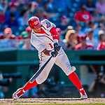 30 July 2017: Washington Nationals infielder Wilmer Difo singles in the 9th inning against the Colorado Rockies at Nationals Park in Washington, DC. The Rockies defeated the Nationals 10-6 in the second game of their 3-game weekend series. Mandatory Credit: Ed Wolfstein Photo *** RAW (NEF) Image File Available ***