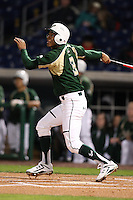 February 27, 2010:  Outfielder Junior Carlin of the South Florida Bulls during the Big East/Big 10 Challenge at Bright House Field in Clearwater, FL.  Photo By Mike Janes/Four Seam Images