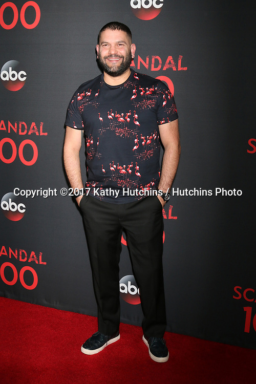 "LOS ANGELES - APR 8:  Guillermo Diaz at the ""Scandal"" 100th Show Party at Fig & Olive Resturant on April 8, 2017 in West Hollywood, CA"