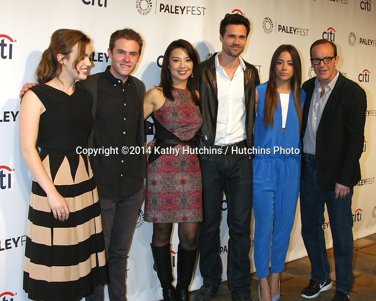 "LOS ANGELES - MAR 23:  Elizabeth Henstridge, Ian De Caestecker, Ming-Na Wen, Brett Dalton, Chloe Bennet, Clark Gregg at the PaleyFEST 2014 - ""Marvel's Agents of S.H.I.E.L.D."" at Dolby Theater on March 23, 2014 in Los Angeles, CA"