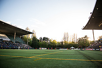 Seattle, Washington -  Saturday April 22, 2017: Memorial Stadium during a regular season National Women's Soccer League (NWSL) match between the Seattle Reign FC and the Houston Dash.
