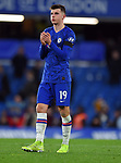 Mason Mount of Chelsea thanks the fans at the end of the Premier League match at Stamford Bridge, London. Picture date: 30th November 2019. Picture credit should read: Robin Parker/Sportimage