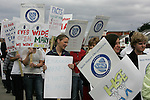 Nurses from All over the North East converged on Louth Co Hospital in Dundalk to protest..Photo: Fran Caffrey/ Newsfile.
