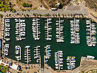 Aerial view of yacht pier and boats. Bahia and hills next to the desert in San Carlos, Sonora, Mexico. Gulf of California. Sea of ​​Cort&eacute;s. Mar Bermejo, is located between the peninsula of Baja California and the states of Sonora and Sinaloa, northwest of Mexico. Tourist destination, trips. Blue, Boats, calm. High Angle View (Photo: Luis Gutierrez / NortePhoto.com)<br /> .......<br /> Vista aerea de embarcadero de yates y Barcos. bahia y cerros  junto al desierto en San Carlos, Sonora, Mexico. Golfo de California. mar de Cort&eacute;s​. mar Bermejo, se  ubica entre la pen&iacute;nsula de Baja California y los estados de Sonora y Sinaloa, al noroeste de M&eacute;xico. Destino turistico, viajes. Azul, Barcos, calma. High Angle View  (Photo: Luis Gutierrez / NortePhoto.com)
