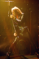Judas Priest; Ian Hill; Live; 1990<br /> Photo Credit: Eddie Malluk/Atlas Icons.com