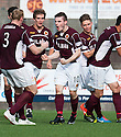 Stenny's Sean Dickson (10) celebrates after he scores their second goal.