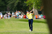 28th May 2017, Fort Worth, Texas, USA; Jordan Spieth hits his approach shot to #5 during the final round of the PGA Dean & Deluca Invitational at Colonial Country Club in Fort Worth, TX.