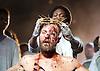 Jesus Christ Superstar <br /> by Tim Rice &amp; Andrew Lloyd Webber <br /> at The Regent's Park Open Air Theatre, London, Great Britain <br /> press photocall<br /> 19th July 2016 <br /> <br /> Declan Bennett as Jesus <br /> <br /> Tyrone Huntley as Judas <br /> <br /> <br /> <br /> <br /> <br /> Photograph by Elliott Franks <br /> Image licensed to Elliott Franks Photography Services