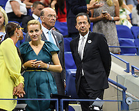 FLUSHING NY- AUGUST 29: Wilbur Ross and John Paulson are seen during opening night ceremony on Arthur Ashe Stadium at the USTA Billie Jean King National Tennis Center on August 29, 2016 in Flushing Queens. Credit: mpi04/MediaPunch