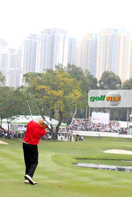 Miguel Angel Jimenez (ESP) on the 18th during Round 4 of the UBS Hong Kong Open 2012, Hong Kong Golf Club, Fanling, Hong Kong. 18/11/12...(Photo Jenny Matthews/www.golffile.ie)