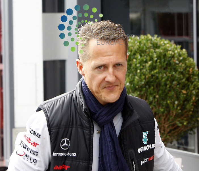 Formel 1 2011,11.Lauf Spa-Francorchamps,26.08.-28.08.11 .Michael Schumacher..Picture:Hasan Bratic/Universal News And Sport (Europe) 28/08/2011.