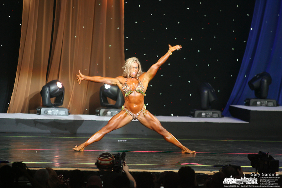 Ms International  from rear of Veterans Memorial stage at 2008 Arnold Sports Festival. Photo Copyright Chris Putman..