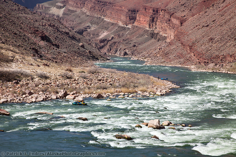 Hance rapids in the Colorado river, Grand Canyon National Park, Arizona