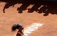 La statunitense Serena Williams esulta dopo aver vinto la finale femminile degli Internazionali d'Italia di tennis a Roma, 19 Maggio 2013..Serena Williams, of the United States, celebrates after winning the final match of the Italian Open Tennis WTA women's tournament in Rome, 19 May 2013..UPDATE IMAGES PRESS/Riccardo De Luca