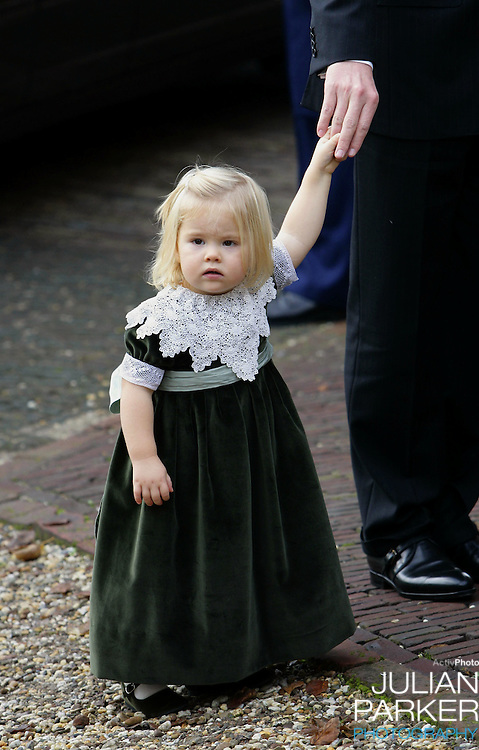 Princess Catharina-Amalia attends the Christening of Princess Alexia of the Netherlands at the Dorpskerk in Wassenaar..