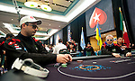Teams Pokerstars Pros and Team Captains Jose Barbero and Dag Palovic in the heads up portion of today's competition.