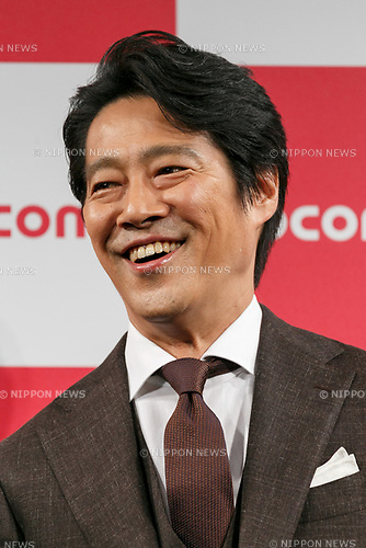 Actor Shinichi Tsutsumi attends the launch event for 8 new mobile devices for the summer lineup of NTT DOCOMO on May 24, 2017, Tokyo, Japan. DOCOMO introduced seven new smartphones and one tablet along with a new app and service plans. (Photo by Rodrigo Reyes Marin/AFLO)