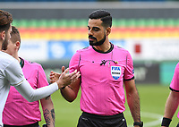 20191211 – OOSTENDE , BELGIUM : Swedish referee Mohammed Al Hakim pictured during a soccer game between Club Brugge KV and Real Madrid on the sixth and last matchday in group A of the UEFA Youth League - Champions League season 2019-2020 , thuesday 11 th December 2019 at the Versluys Arena in Oostende , Belgium . PHOTO SPORTPIX.BE | DAVID CATRY