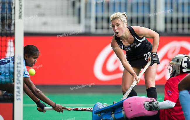 23/06/2015<br /> HWL Semi Final Antwerp Belgium 2015<br /> New Zealand v India Women<br /> Gemma Flynn<br /> Photo: Grant Treeby