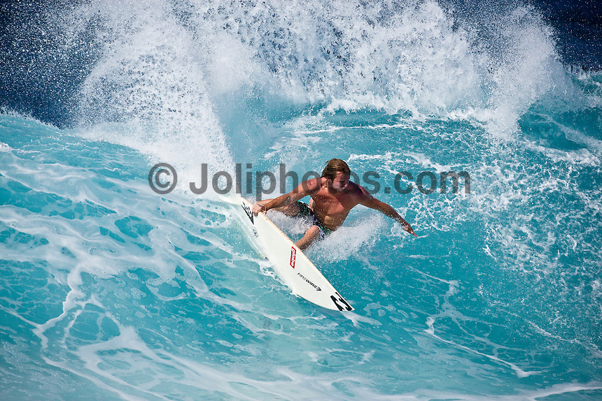 TAJ BURROW (AUS) surfing at Off The Wall-Backdoor, North Shore of Oahu, Hawaii. Photo: joliphotos.com