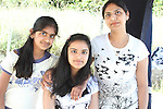 Rashi, Priyanka and Sangeeta at the Cricket Tournament on Laytown Beach...Picture Jenny Matthews/Newsfile.ie