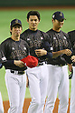 (L to R) <br /> Kenta Maeda, <br /> Shintaro Fujinami, <br /> Shohei Otani (JPN), <br /> NOVEMBER 14, 2014 - Baseball : <br /> 2014 All Star Series Game 2 <br /> between Japan and MLB All Stars <br /> at Tokyo Dome in Tokyo, Japan. <br /> (Photo by YUTAKA/AFLO SPORT)[1040]