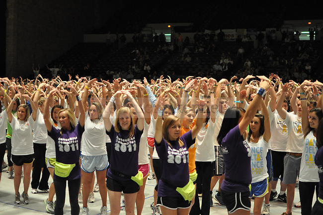 On Friday night, the University of Kentucky held their 3rd annual Dance Blue inorder to raise money to fight cancer.