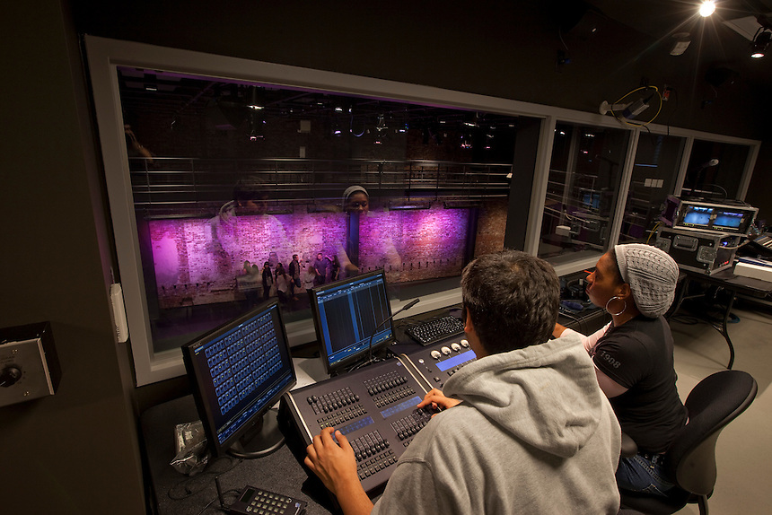 student, students, female, male, Performing Arts, Paramount Center, Paramount, theater, theatre, equipment, lighting