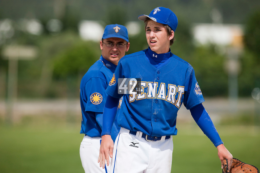 22 May 2009: Steven Vesque of Senart is seen during the 2009 challenge de France, a tournament with the best French baseball teams - all eight elite league clubs - to determine a spot in the European Cup next year, at Montpellier, France. Senart wins 7-1 over Montpellier.