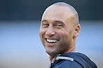Derek Jeter (Yankees),<br /> APRIL 10, 2014 - MLB :<br /> Derek Jeter of the New York Yankees during batting practice before the baseball game against the Baltimore Orioles at Yankee Stadium in Bronx, New York, United States. (Photo by Thomas Anderson/AFLO) (JAPANESE NEWSPAPER OUT)