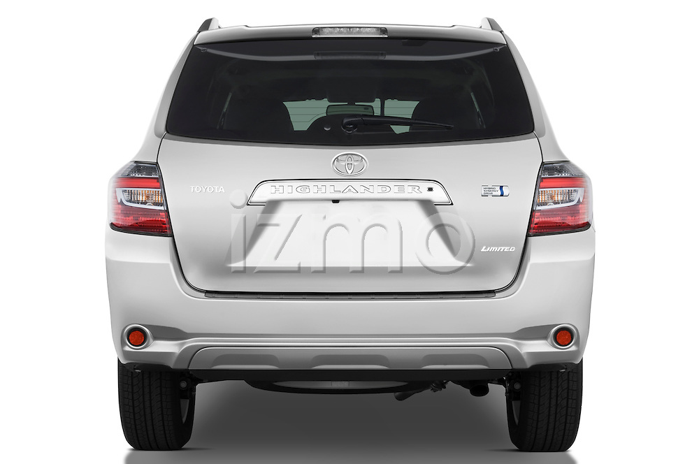 Straight rear view of a 2009 Toyota Highlander Hybrid Limited