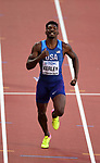 Fred Kerley (USA) in the mens 400m. IAAF world athletics championships. London Olympic stadium. Queen Elizabeth Olympic park. Stratford. London. UK. 06/08/2017. ~ MANDATORY CREDIT Garry Bowden/SIPPA - NO UNAUTHORISED USE - +44 7837 394578