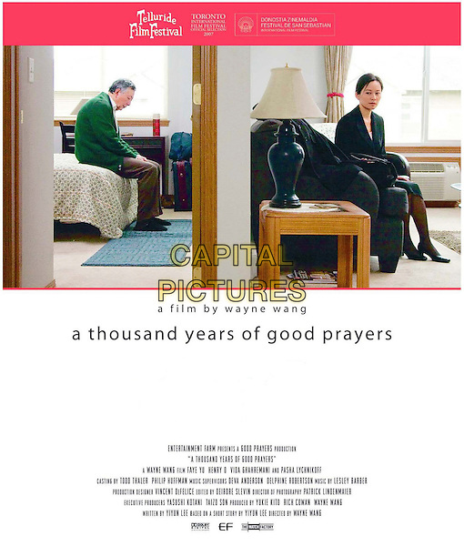 POSTER ART.in A Thousand Years of Good Prayers.*Filmstill - Editorial Use Only*.CAP/FB.Supplied by Capital Pictures.
