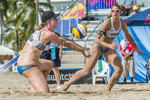 29.09.2015-04.10.2015 Fort Lauderdale, Florida, USA. Swatch Beach Volleyball Beach volleyball FIVB World Tour Finals 2015.  Julia Sude, Chantal Laboureur (GER)