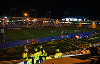 ARMENIA, COLOMBIA - JANUARY 19: People wait after the stadium run out of power during Paraguay against Uruguay during their CONMEBOL Pre-Olympic soccer game at Centenario Stadium on January 19, 2020 in Armenia, Colombia. (Photo by Daniel Munoz/VIEW press/Getty Images)
