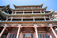 Temple at the Yungang Grottoes in Datong, China