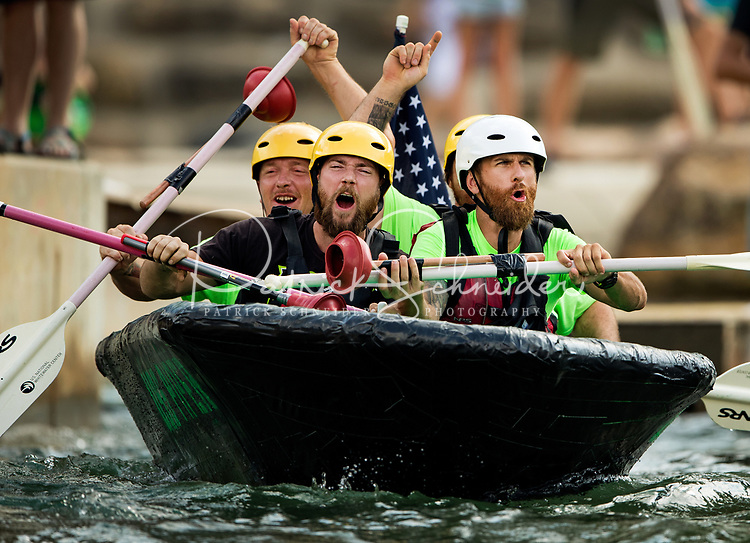 Photography coverage of the 7th Annual Build Your Own Boat Competition at the U.S. National Whitewater Center. The race series is run on the man-made whitewater channel in class III and IV rapids at USNWC in Charlotte, North Carolina.<br /> <br /> Charlotte Photographer - PatrickSchneiderPhoto.com