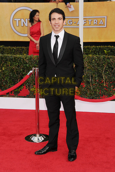 Chris Messina.Arrivals at the 19th Annual Screen Actors Guild Awards at the Shrine Auditorium in Los Angeles, California, USA..27th January 2013.SAG SAGs full length black suit white shirt hands in pockets .CAP/ROT/TM.©Tony Michaels/Roth Stock/Capital Pictures