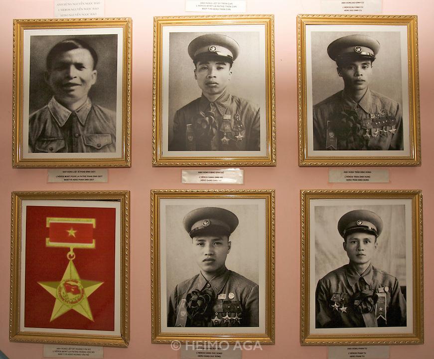 History of the battle at Dien Bien Phu Museum. Viet Minh heroes.