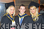 Health and Leisure graduates pictured at the ITT graduations in the Brandon Hotel on Friday: Claire Lee (Tralee), Wayne Murphy (Kilflynn) and Siobhan Sentry (Tralee).