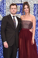 "Taron Egerton and girlfriend Emily Thomas <br /> arriving for the ""Rocketman"" premiere in Leicester Square, London<br /> <br /> ©Ash Knotek  D3502  20/05/2019"