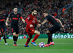 Mohamed Salah of Liverpool gets clear and takes a shot  during the UEFA Champions League match at Anfield, Liverpool. Picture date: 11th March 2020. Picture credit should read: Darren Staples/Sportimage