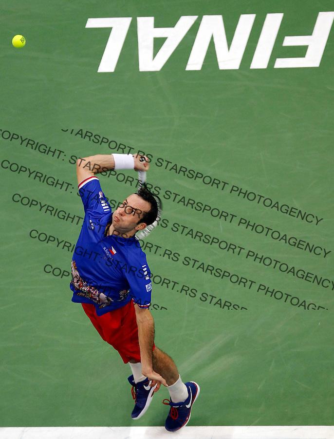 Tennis Tenis<br /> Davis Cup Final 2013<br /> Serbia v Czech republic<br /> Novak Djokovic v Radek Stepanek<br /> Radek Stepanek in action<br /> Beograd, 15.11.2013.<br /> foto: Srdjan Stevanovic/Starsportphoto &copy;