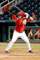 Yasmani Grandal - AZL Reds. Grandal, the Reds 1st round draft choice, was playing in his second professional game against the Angels at Goodyear Stadium, Goodyear, AZ - 08/21/2010..Photo by:  Bill Mitchell/Four Seam Images..